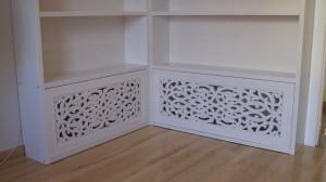 Ażurowe panele w bibliotece wzór ksena