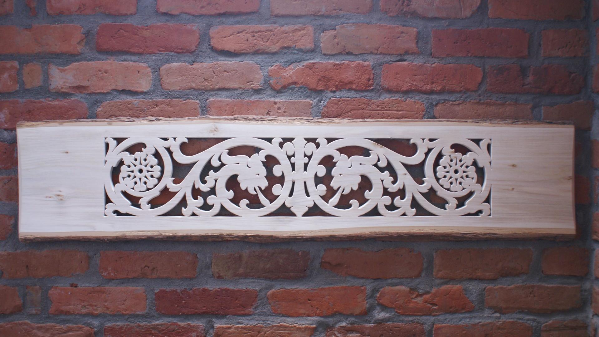 ażurowy panel lipowy  - wiktoriański motyw królewski 2