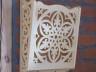 dekoracja ścienna - koronkowa półka ozdobna z drewna lipowego - wzór kryształ wody 1
