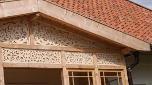 Zdobnictwo werand i ganków - drewniane zdobienia ganku - 01 - pawie