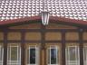 Koronki drewniane w ganku domu na Pomorzu