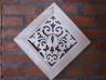 Obraz lipowy ażurowy w ramie - ornament Liść
