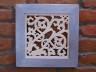 Obraz lipowy wzór Kwiat - rama niebieska