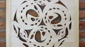 Obraz rzeźbiony w drewnie trikel ii mandala