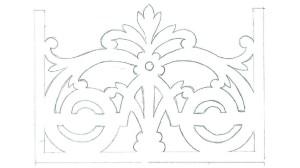 Projekt ozdób ażurowych werandy Dworu Radonie 01