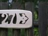 tablica adresowa drewniana