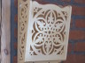 Wall decoration - decorative lace basket of linden wood - pattern of crystal water 1