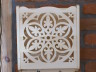 Wall decoration - decorative lace basket of linden wood - pattern of crystal water 2