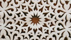 Wyrób ręcznie wykonany - ornament mandalina - detal